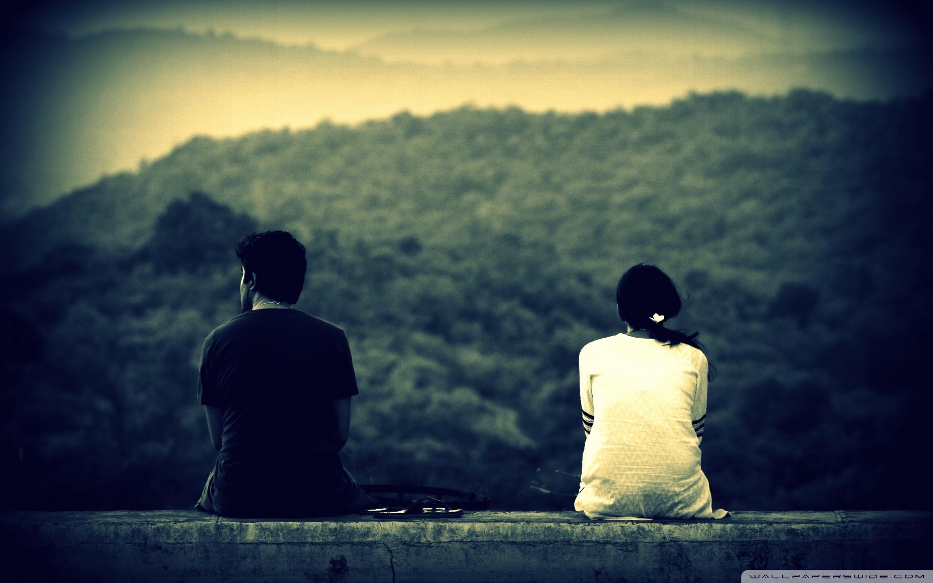 Грустные картинки парень и девушка